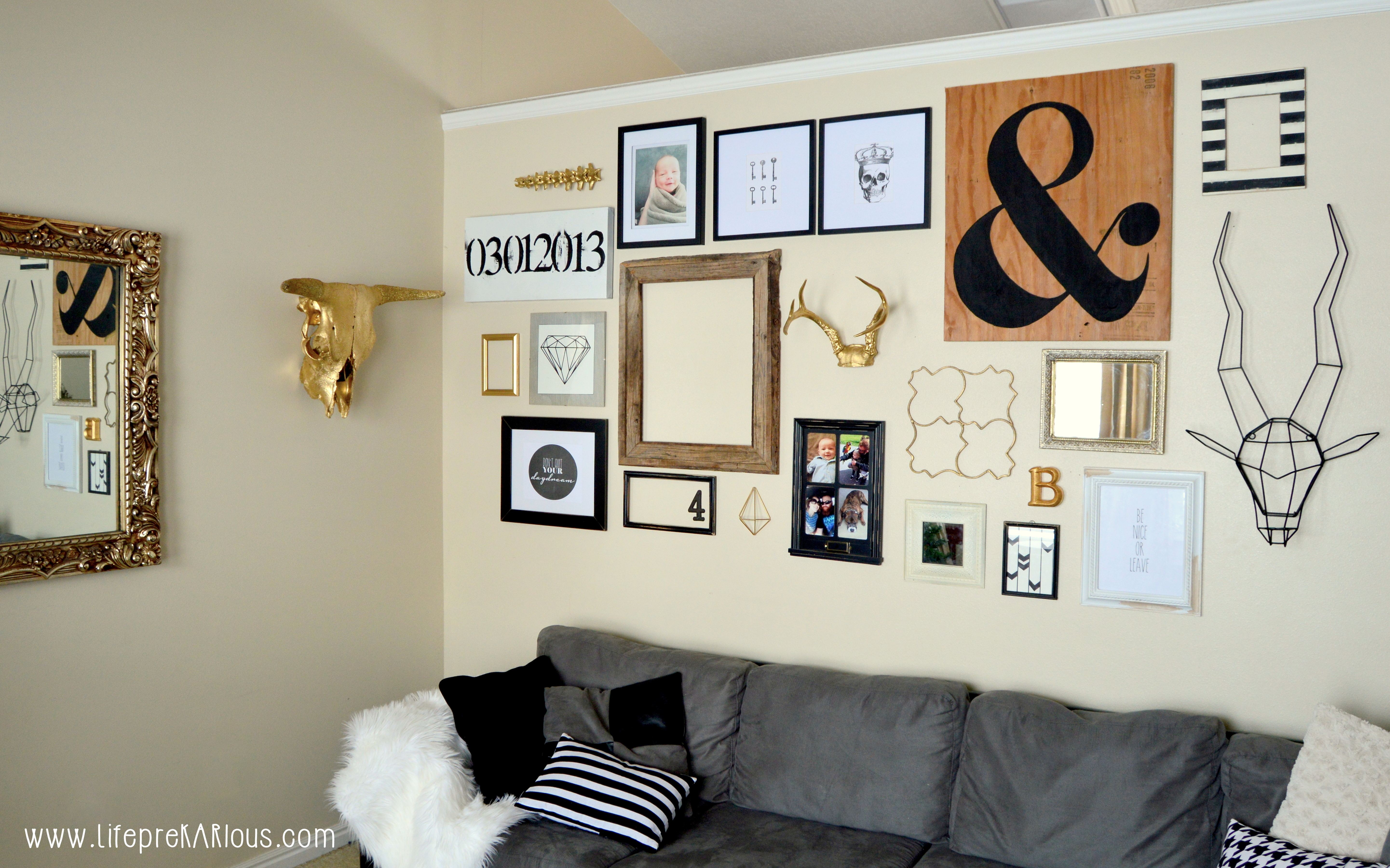 Black And White Gallery Wall black & white gallery wall — crafthubs