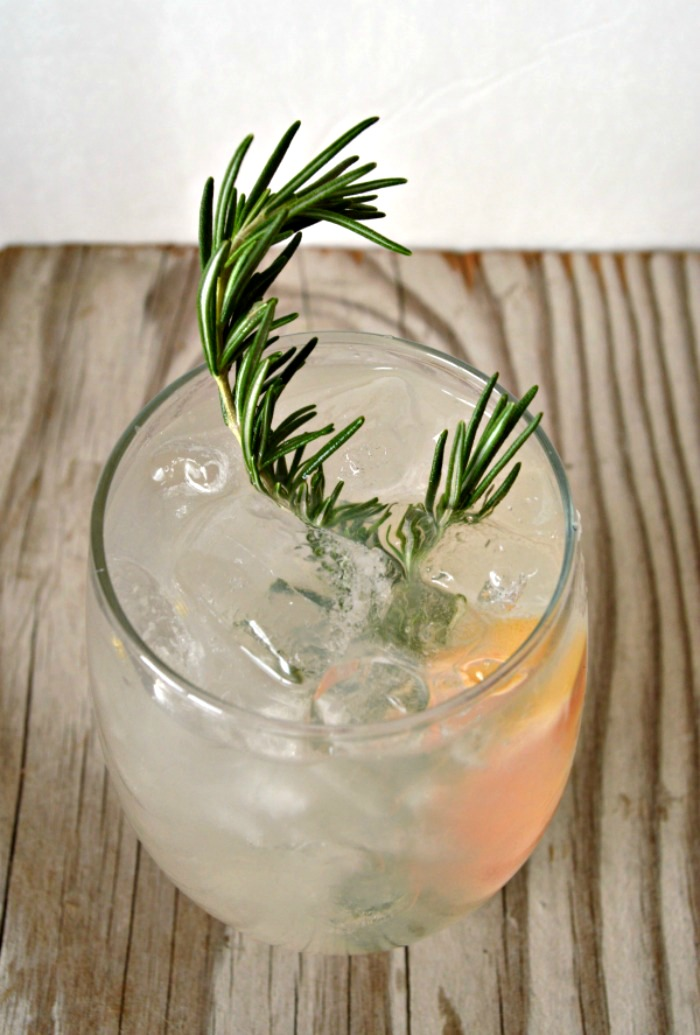 Rosemary and Grapefruit infused Gin and Tonic