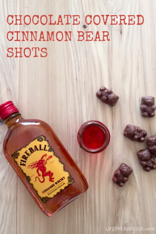 Chocolate Covered Cinnamon Bear Shots