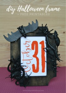 DIY Halloween Frame with free printables